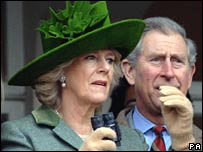 The Duchess of Cornwall and Prince Charles at Cheltenham Races