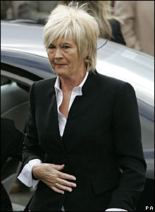 Jimmy Johnstone's wife Agnes arrives for the funeral