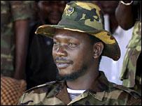 Thomas Lubanga at a UPC rally in Bunia (file picture, 2003)