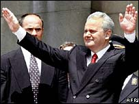 File photograph of Slobodan Milosevic