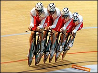 England's team pursuit quartet