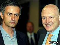 Chelsea boss Jose Mourinho and chief executive Peter Kenyon