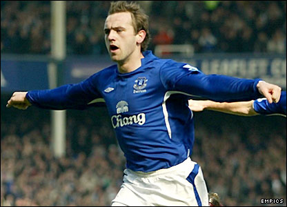 James McFadden celebrates the opening goal