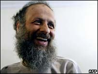 Akbar Ganji at home in Tehran after his release