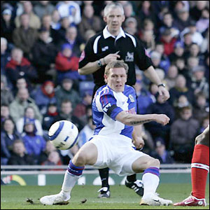 Craig Bellamy opens the scoring for Blackburn
