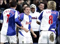 Craig Bellamy with Rovers team-mates