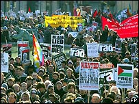 Demonstrators in London