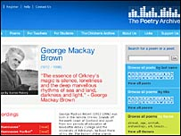 The Poetry Archive Website