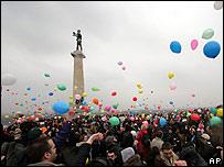 Anti-Milosevic party in Belgrade