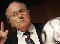Joseph Blatter, presidente de FIFA