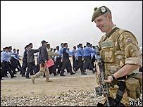Police recruits training in Basra