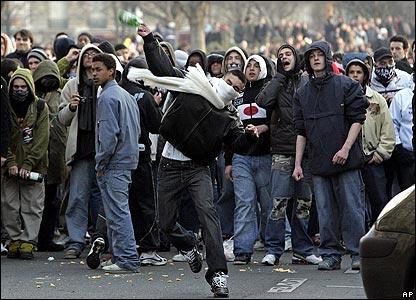 Demonstrators in Paris