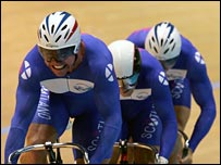 The Scottish team sprint cycling trio