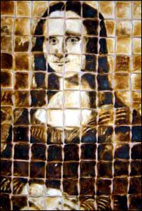 Mona Lisa in toast