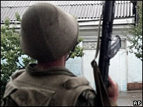 Uzbek soldier