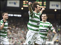 Maciej Zurawski was on target for Celtic