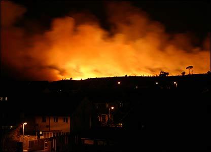 Canford Heath blaze