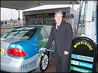 Bioethanol pump at Morrison's Bridgwater forecourt