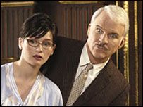 Emily Mortimer and Steve Martin in The Pink Panther