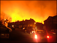 The fire - picture by Ben Hooper