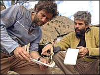 Claude-Andre Nadon (left) with another Canadian guide