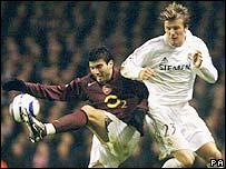 David Beckham in action