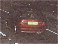 Killers' car caught on camera