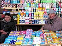 Market stall in Karakol