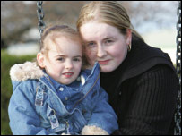 Stacey Dow with daughter - Perthshire Picture Agency