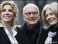 (L) Natasha Richardson, James Ivory and Vanessa Redgrave
