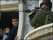 An Israeli raid in the Palestinian village of Beita, near Nablus