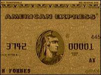 Tarjeta American Express.