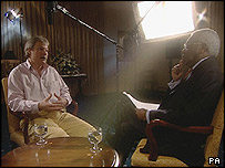 Sion Jenkins and Sir Trevor McDonald (from Billie-Jo and Me: A Tonight Special programme)