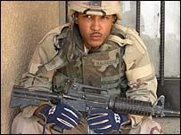 Sargento Saunders en Irak.