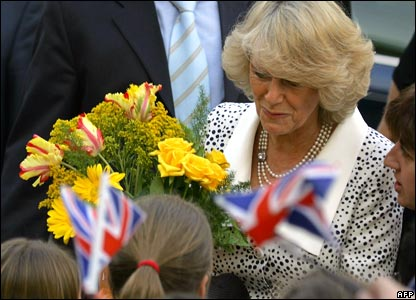 Duchess of Cornwall with flowers