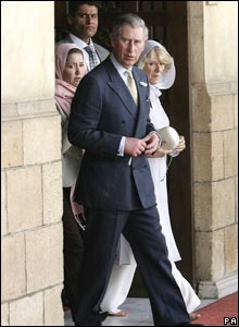 Prince Charles and Camilla at the mosque