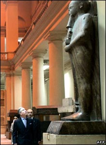 Prince Charles at the Egyptian Museum