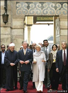 Royal couple inside Al-Azhar Mosque