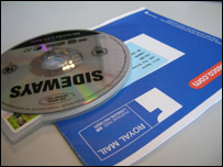 DVD sent out by online rental firm