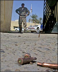Empty cartridges the scene of a clash in Miqdadiya