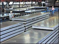 Corus aluminium plant