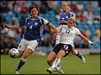 England player at the UEFA Women's championship 2005