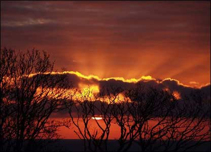 Rhys Harrison, a student in Atlantic College, wanted to share this south Wales sunset with other readers