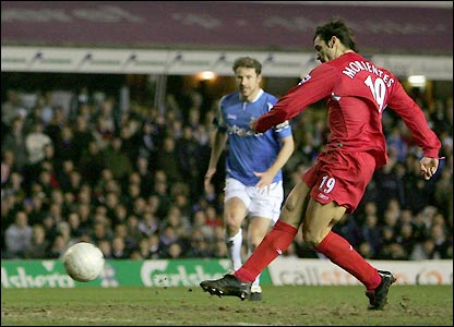 Fernando Morientes places the ball past Maik Taylor on the hour as Kenny Cunningham can only watch