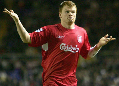 John Arne Riise celebrates his third goal of the season
