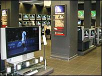 Flat screen TVs on sale in Kesa store