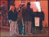 Protesters in Donegall Road area