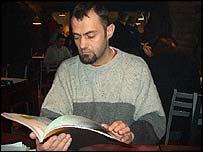 Rajko Bozic, reading Stories from Visa Queues