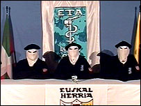 Eta members announce ceasefire, March 2006