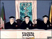 Eta members announce a permanent ceasefire, March 2006